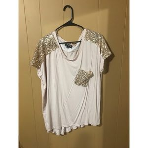 Pale Pink T-shirt With Sequins